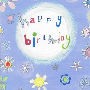 Bunte Geburtstagskarte - happy birthday