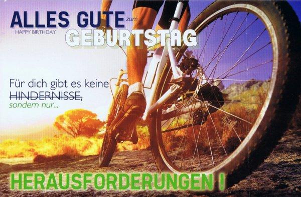 Geburtstagskarte Hobby Männer - Radfahren