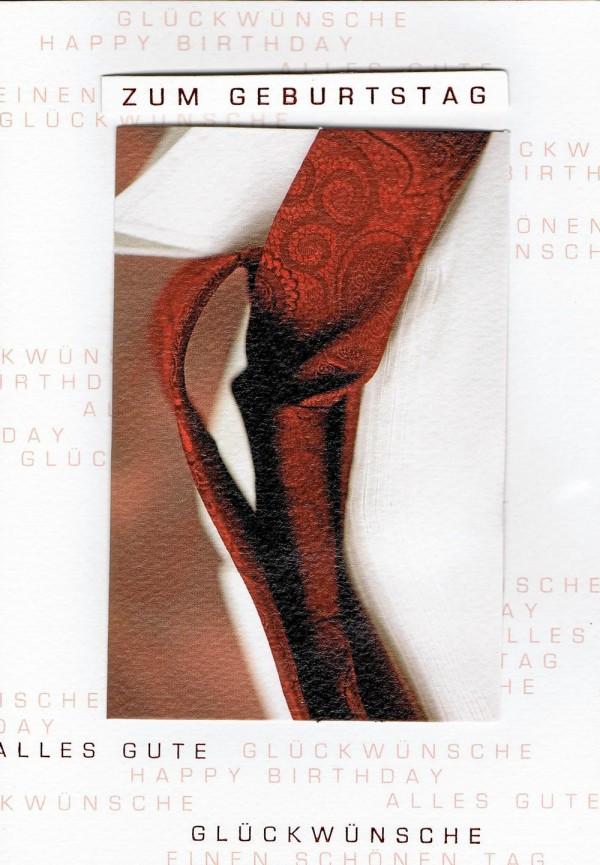 Hochwertige Geburtagskarte für Männer