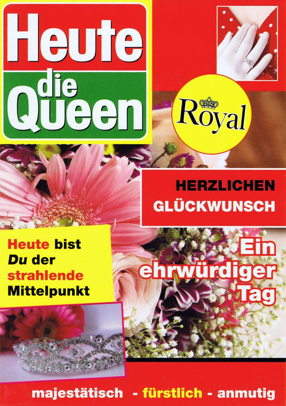 Geburtagskarte - Heute die Queen