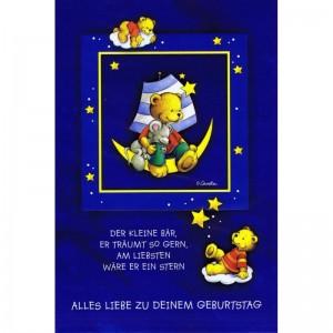 Geburtstagskarte - Kindergeburtstag - Kleiner Bär