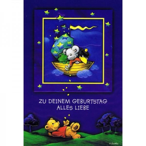 Geburtstagskarte - Kindergeburtstag - Bär und seine Freunde