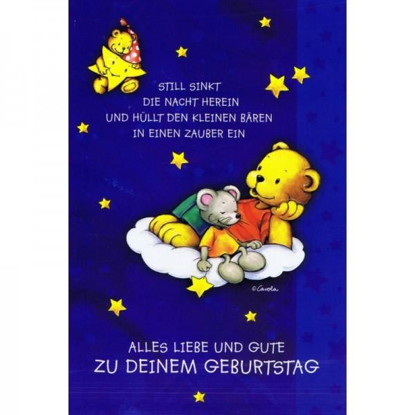 Geburtstagskarte - Kindergeburtstag - Bärchen und Mäuschen
