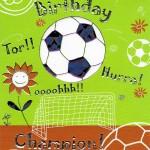 Geburtstagskarte für Champions - Fußball
