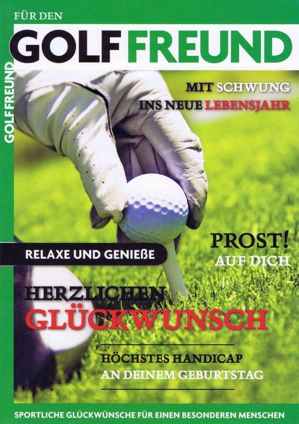 Geburtstagskarte für den Golffreund