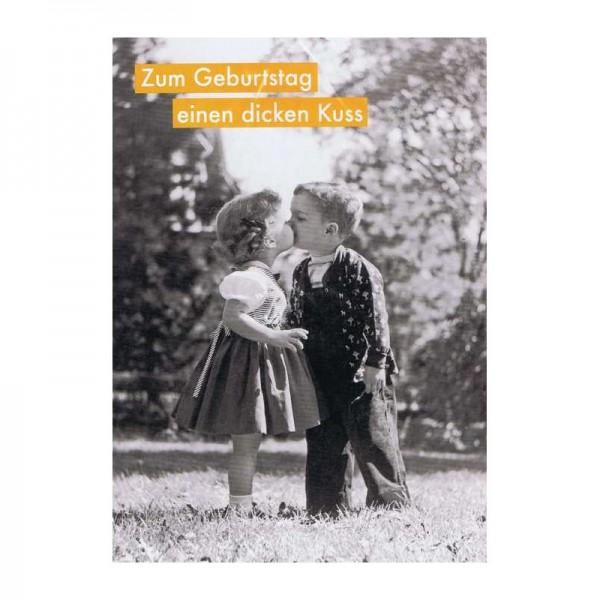 Glückwunschkarte - Zum Geburtstag einen dicken Kuss