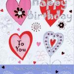 Hochwertige Geburtstagskarte - Happy Birthday To You