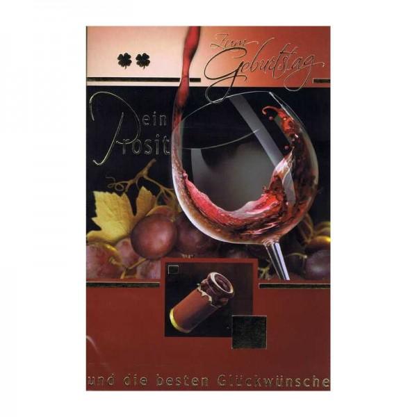 Geburtstagskarte für Weinkenner 04 - Ein Prosit