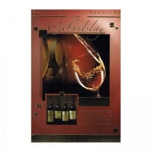 Geburtstagskarte mit Sprüche zum Thema Wein 08 - Alle Tage ist kein Sonntag