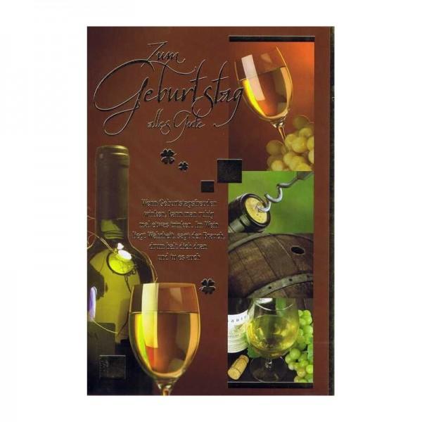Geburtstagskarte mit Sprüche zum Thema Wein 09 - Im Wein liegt Wahrheit