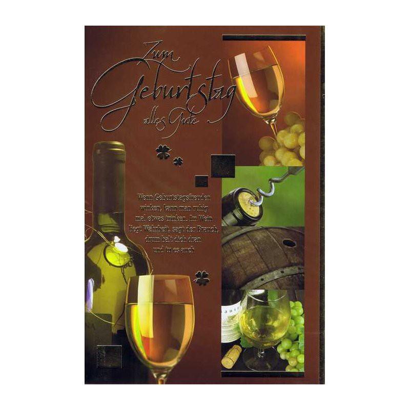 Geburtstagskarte Mit Sprüche Zum Thema Wein 09 Im Wein Liegt Wahrheit