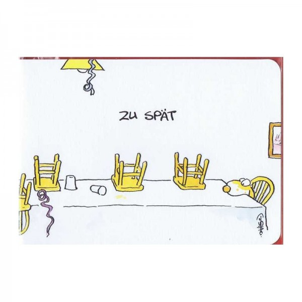 """Kleine Geburtstagskarte """"Zu Spät"""""""