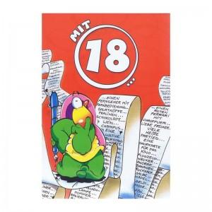 """Geburtstagskarte mit Humor """"Mit 18"""""""