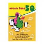 """Geburtstagskarte mit Humor """"Du bist über 50"""""""
