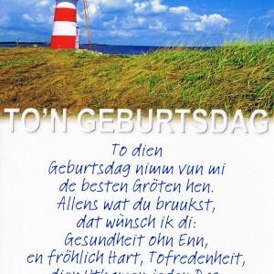 Geburtstagskarte - Norddeutscher Dialekt - Leuchttum