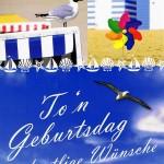 Geburtstagskarte - Norddeutscher Dialekt - Strandkultur