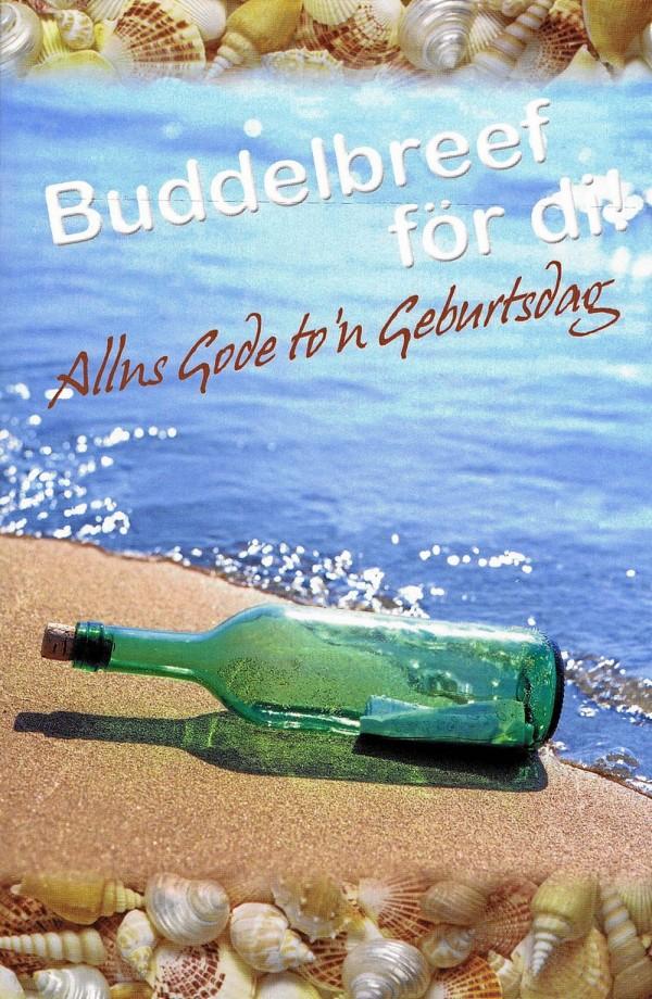 Geburtstagskarte - Norddeutscher Dialekt - Buddelbreef