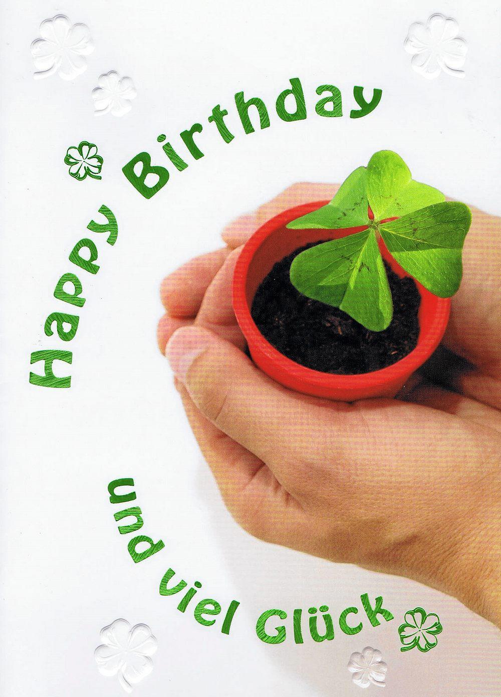 Geburtstagskarte: Glücksklee