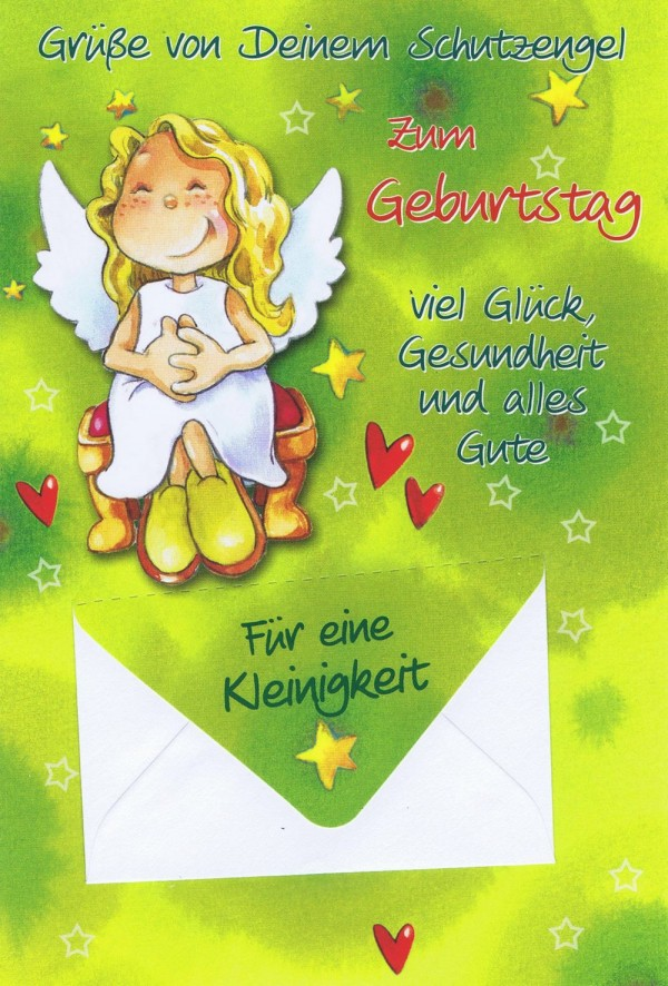 Geburtstagskarten Schutzengel mit Geldkuvert 201269