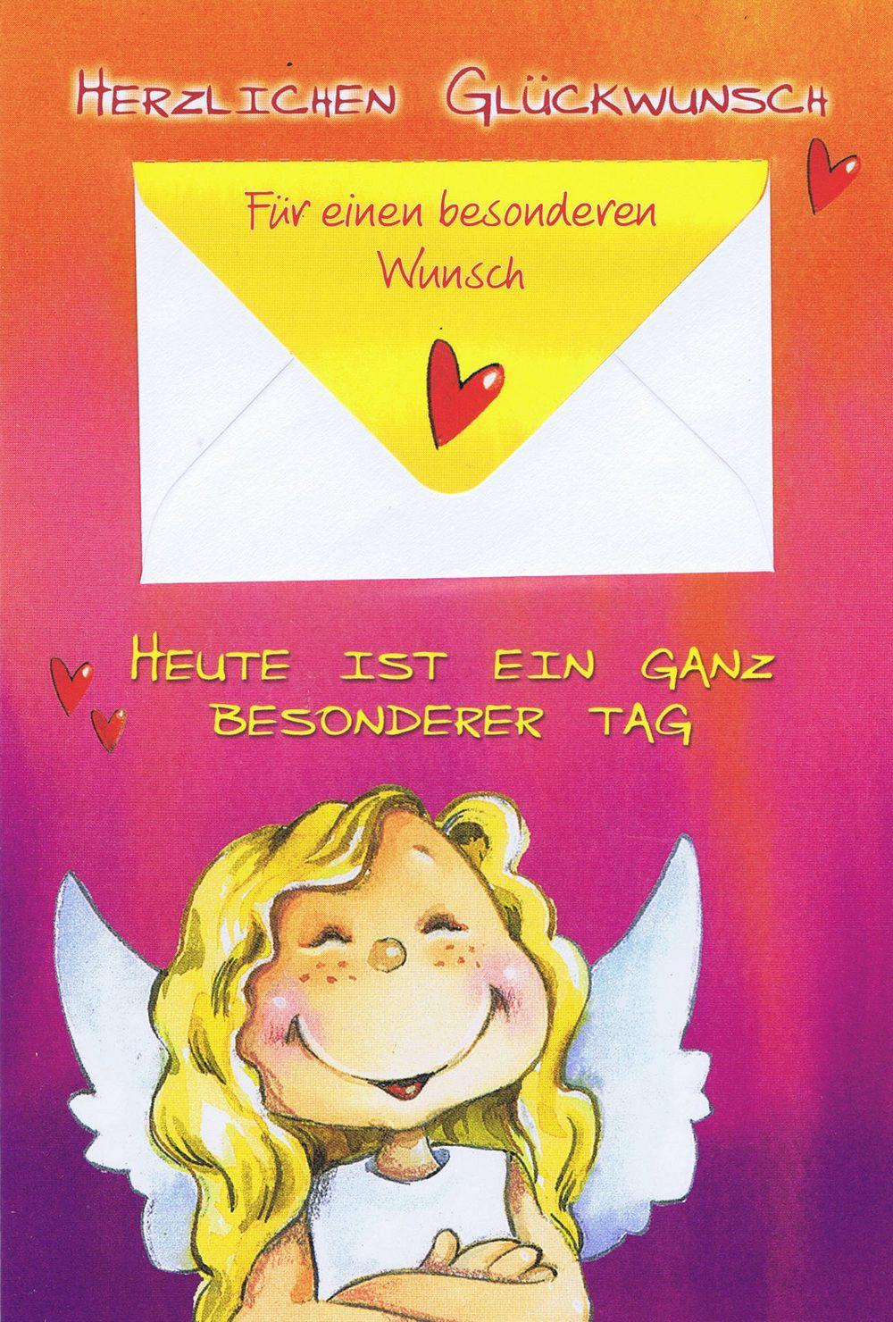 Geburtstagskarten Schutzengel mit Geldkuvert 201270 | Kartenwichtel.de