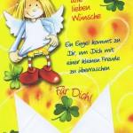 Geburtstagskarten Schutzengel mit Geldkuvert 201274