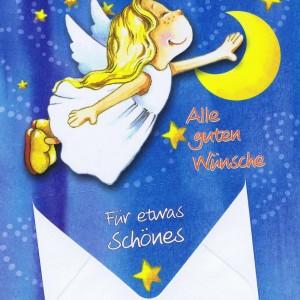 Geburtstagskarten Schutzengel mit Geldkuvert 201276