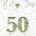 Glückwunschkarte Patchwork: Goldhochzeit