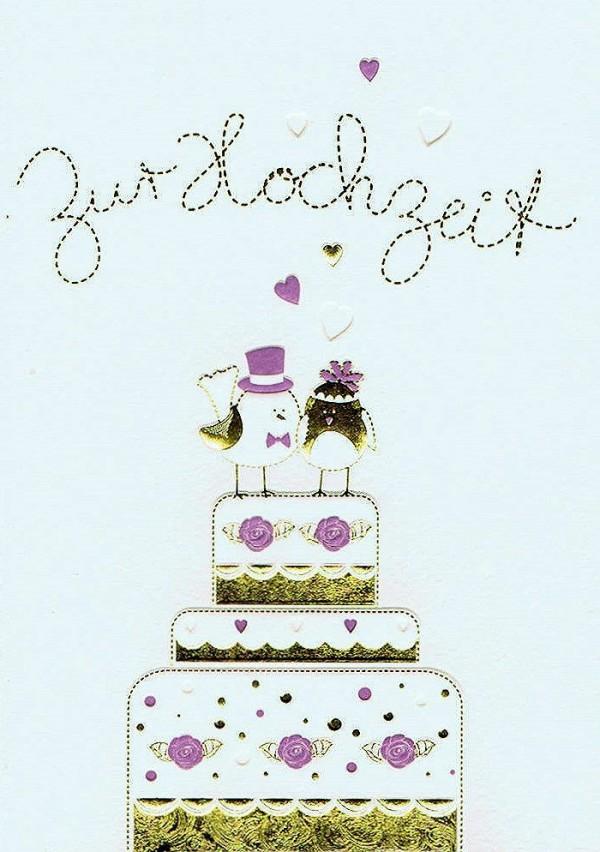 Glückwunschkarte Patchwork: Hochzeit