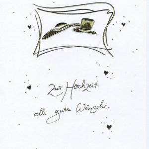 Elegante Hochzeitskarte - Zur Hochzeit alle guten Wünsche