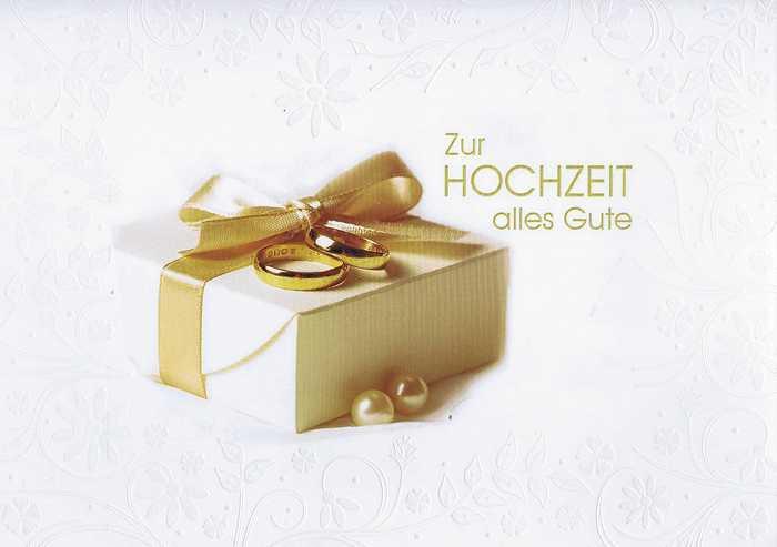 """Glückwunschkarte """"Zur Hochzeit"""" 91-11-007"""