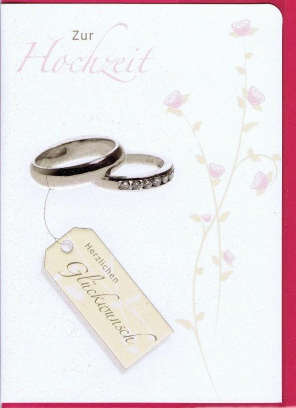 Hochzeitskarte - Herzlichen Glückwunsch