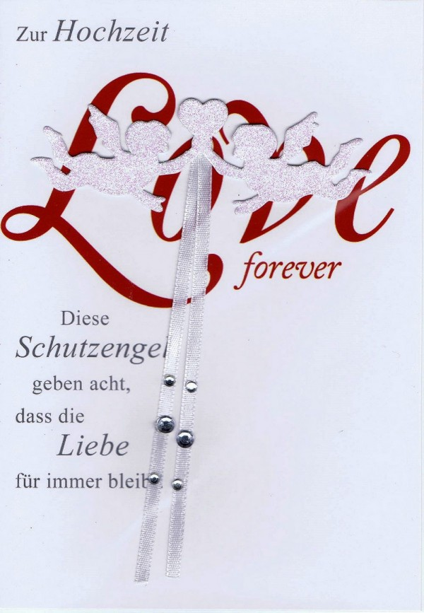 Glückwunschkarte zur Hochzeit - Love forever - Schutzengel