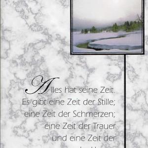 Beileidskarte mit Vers, Trauer, Aufrichtiges Beileid