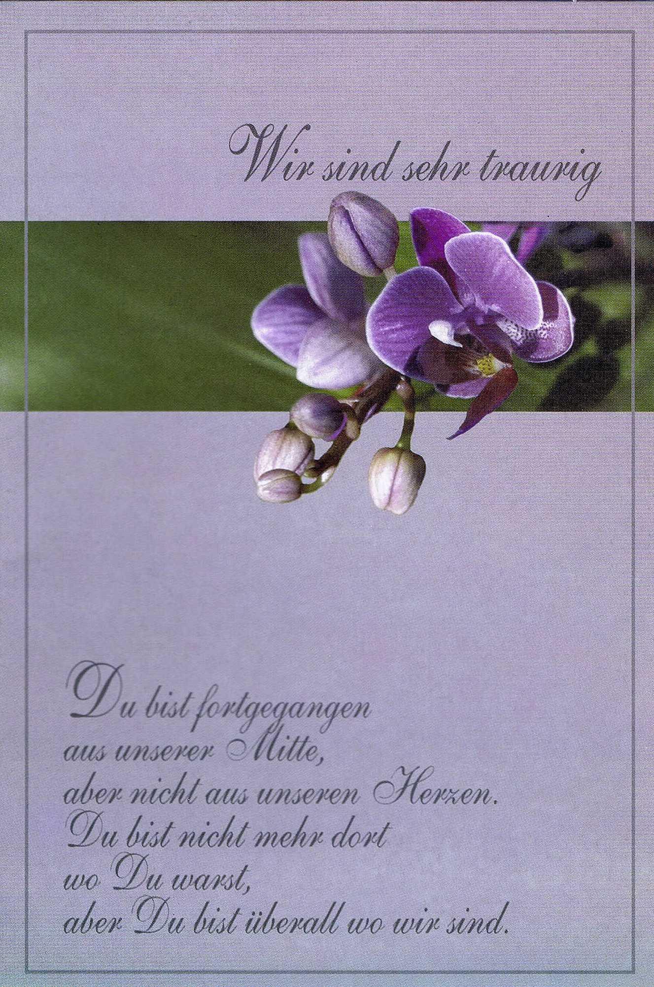 Kondolenzkarte mit Kuvert 81-1560-2