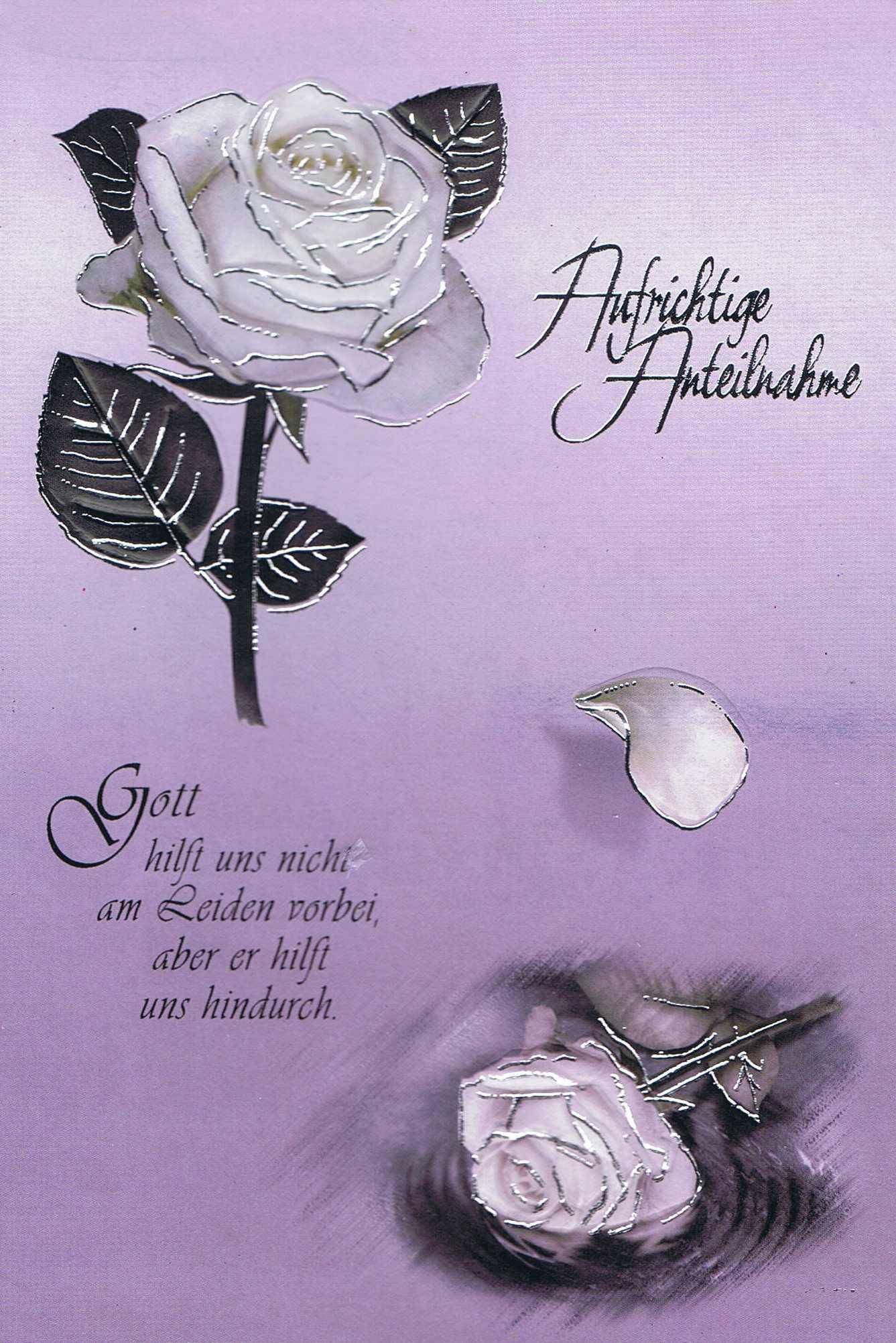 Beileidswunsche Fur Karten: Beileidskarte, Trauerkarte, Aufrichtige Anteilnahme