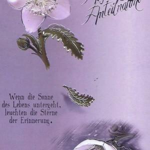 Beileidkarte, Trauerkarte, Aufrichtige Anteilnahme 81-400/6
