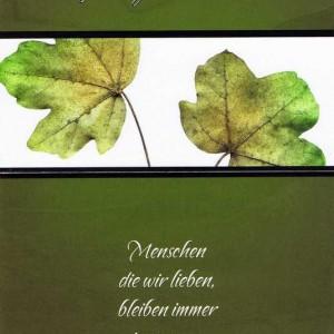 Anteilnahme Trauerkarte mit Spruch 200622