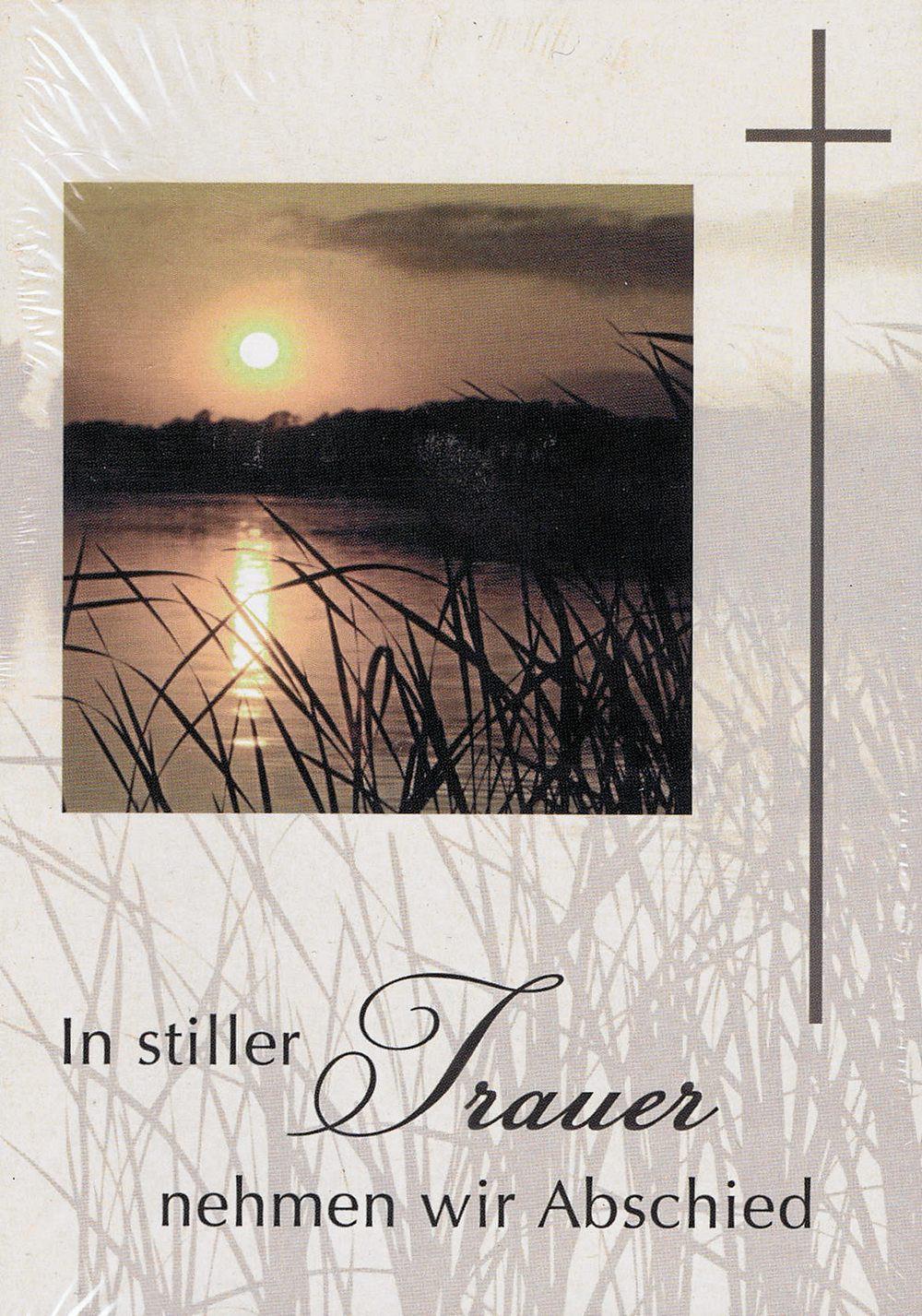 Kartenpack - Anzeigen In stiller Trauer - 5 Karten mit Umschlag und Innentext