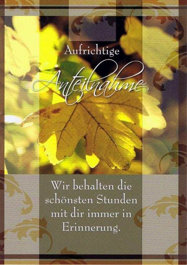 Trauerkarte Herbstlaub