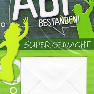 Geschenkkarte: Abi bestanden mit kleinem Kuvert