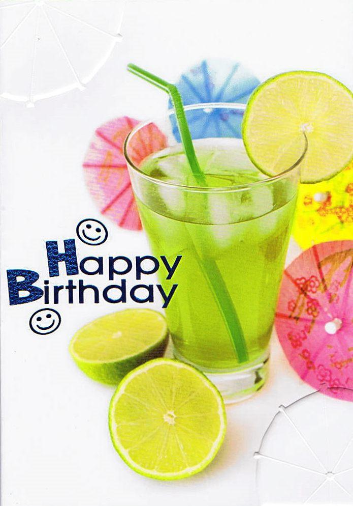 Geburtstagskarte Cocktail
