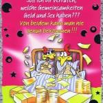 Geburtstagskarte, Humor-Motiv, Klappkarte mit farbigen Umschlag
