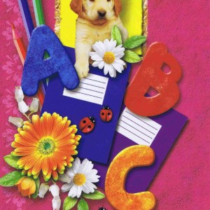 Glückwunschkarte Einschulung, Die besten Wünsche zum Schulanfang