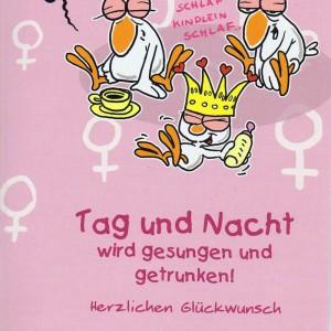 """Glückwunschkarte zur Geburt mit Humor """"Chicken"""" zur Prinzessin"""