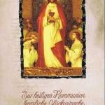 """Kommunionkarte mit Kuvert """"Zur heiligen Kommunion"""" Motiv 1"""