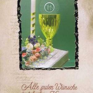 """Kommunionkarte mit Kuvert """"Zur heiligen Kommunion"""" Motiv 3"""