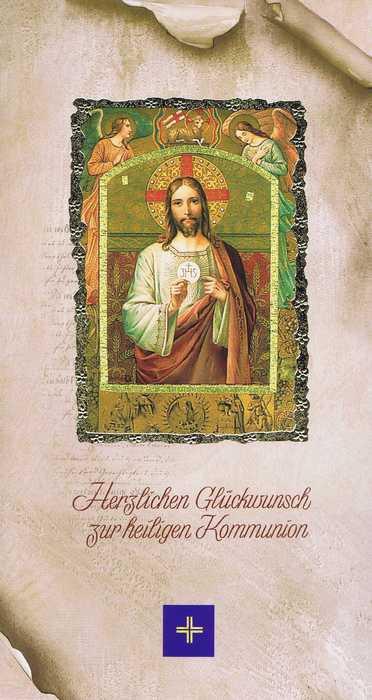 """Kommunionkarte mit Kuvert """"Zur heiligen Kommunion"""" Motiv 4"""