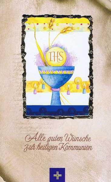 """Kommunionkarte mit Kuvert """"Zur heiligen Kommunion"""" Motiv 5"""