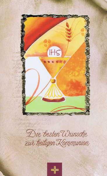 """Kommunionkarte mit Kuvert """"Zur heiligen Kommunion"""" Motiv 7"""