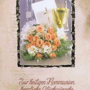 """Kommunionkarte mit Kuvert """"Zur heiligen Kommunion"""" Motiv 8"""